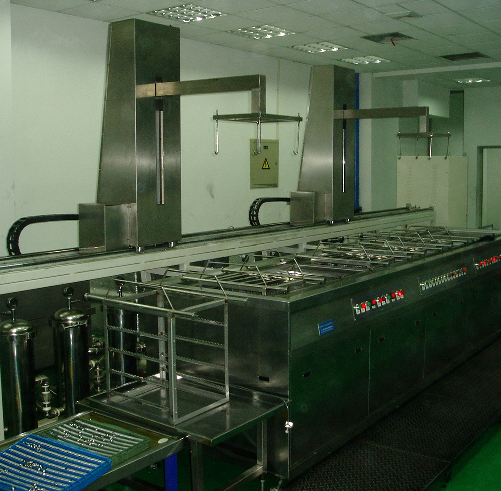 SYK-PLC全自动双机械臂超音波清洗机